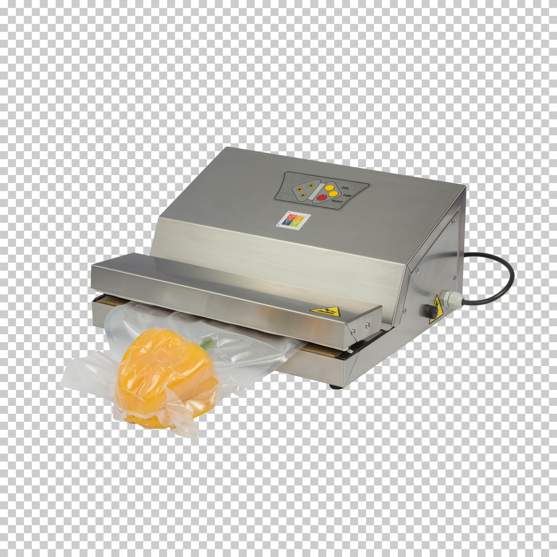 Foto di una macchina per sigillatura sotto vuoto scontornata su fondo trasparente