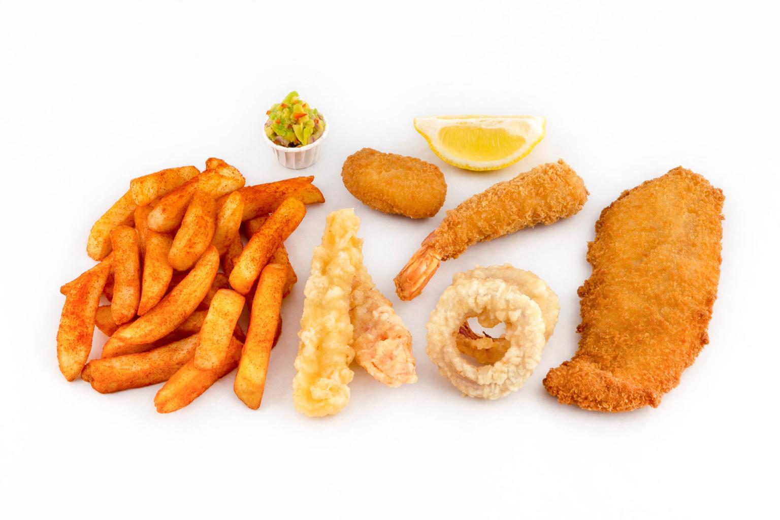 Servizio Fotografico Frittura di Pesce e Fish and Chips a Treviso
