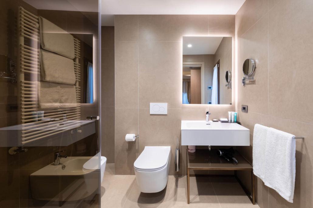 Fotografo camere e suite per l'Hotel Aquarius a Venezia